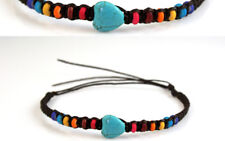 Anklet Turquoise Black Rainbow Blue Red Ankle Bracelet Gypsy Boho Love Heart