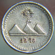 [NC] GUATEMALA - 1/4 QUARTO DI REAL - 1876 (nc2337)