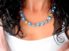Anna Wintour Swarovski Necklace Aquamarine Choker 12mm Crystal Rivoli Cupchain