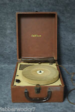 Rare Vintage Travler Model 7053 Portable Electric Phonograph / Record Player