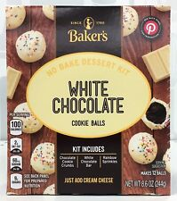 Bakers White Chocolate Cookie Balls No Bake Dessert Kit 8.6 oz