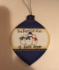 Best Gift Of All Is Each Other wood snowman ornament snowmen decor wooden sign