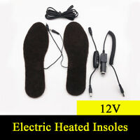 12V Car Motorcycle Electric Heated Insoles Foot Warmer Heater + Temp Controller