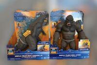 "Godzilla vs Kong 13"" Mega Godzilla & Mega Kong Figure with Lights & Sounds Lot"