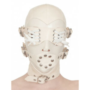 846 Latex Rubber Gummi buckles Masks Hoods eyes mouth blindfold customized 0.7mm