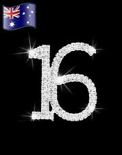 16th Birthday Diamanté Cake Topper Crystal Rhinestones Sweet 16 Party Sparkling