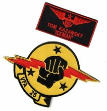 Top Gun movie Ice Man Tom Kazansky Bundle 2pcs IRON ON SEW ON Patch