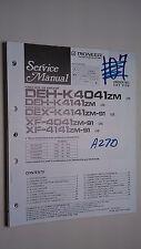 Pioneer deh-k4041 k414 dex- xf zm service manual original repair book stereo