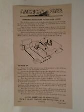 ORIGINAL AMERICAN FLYER #M3313 INSTRUCTIONS FOR OIL DRUM LOADER MINT CONDITION