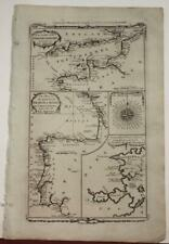 ENGLISH CHANNEL & BAY OF BISCAY ENGLAND FRANCE SPAIN 1782 MILLAR ANTIQUE MAP