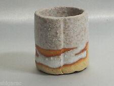 """Bonsai pot Shigaraki grès """"rond blanc mini"""" d5cm petites jardinières japonais"""