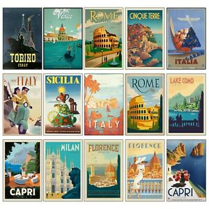 VINTAGE Retro Italy TRAVEL Classic Tourism Poster Prints Home Wall Decor Art