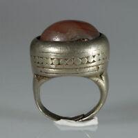8928  Tuareg  Silber Ring Karneol Agadez Niger