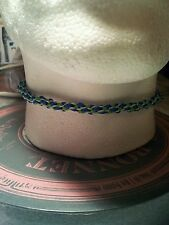 BLUE GREEN  KUMIHIMO CHOKER/NECKLACE  SILVER COLOUR CLASP.  PRESENT.