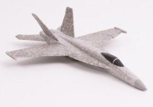 F18 Jet Shape Free Flight Chuck Glider Tough Model Aeroplane