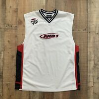 And1 And 1 One Mixtape Tour Basketball Street Ball  Home Jersey Men's XL