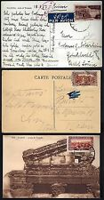 SYRIA 1925 THREE POST CARD OF PALMYRA ARC DE TRIOMPHE & CITADEL IN DAMASCUS DAMA
