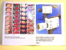 Original(!) Nizo S 560 and Nizo S 800 Sales Brochure - in German!