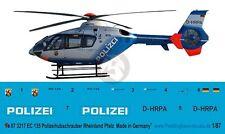 Peddinghaus 1/87 (HO) EC135 P2 Police Helicopter Markings D-HRPA Rhe-Pfalz 3217