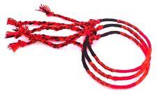 Lot 3 Bracelets Brésiliens de l'Amitié Macramé coton Bonheur rouge noir