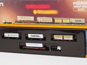 8696 Marklin Z-scale Northern German Freight Car Set, with Semi truck