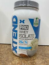 Scivation Xtend Pro 100% Whey Protein Isolate Powder Vanilla 25 Serv Exp 01/2021