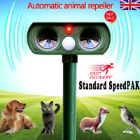 Solar Power Ultrasonic Pest Animal Repeller Garden Home Dog Scarer Cat HOT UK