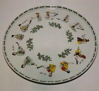 """Porcelaine de Sologne France Mint Tea 12"""" Platter Serving Tray EUC"""