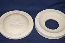 "Vintage Ceramic Pottery Slip Casting Mold - 10"" Poinsettia Christmas Plate"