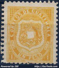 GUATEMALA REPUBLIQUE N° 6 NEUF SANS GOMME