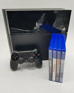 Sony PlayStation 4 500 GB Konsole Schwarz (CUH-1004A) 4 Zufallsspiele USK 18