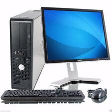 """DELL Windows 10 Pro 17"""" Monitor Desktop Computer PC 4GB 160GB WiFi 64"""