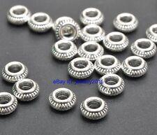 100pcs Tibetan Silver Charm LOOSE bead Spacer Beads 7x3mm G3422