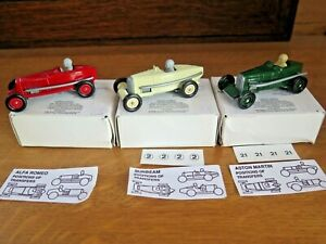 Lledo Alfa Romeo Aston Martin & Sunbeam Days Gone 1931 Model Toy Race Cars Mint