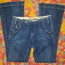 Vigoss Bootcut Flap Pockets Trouser Jeans Women 4/Junior 3 Dark Wash Stretch EUC