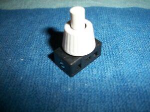 Druck-Einbau-Schalter  (H1) 1 Stück 230 V, 2 A weiß ,12 mm Halslänge