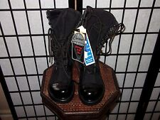 New Corcoran Military Black Upper Leather Boots Field Jump STEEL PLATE Mens 7 M