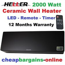 HELLER 2000W ELECTRIC CERAMIC WALL MOUNTABLE HEATER BLACK REMOTE CONTROL  TIMERCeramic Portable Heaters   eBay. Heller 2000w Ceramic Electric Wall Heater Bathroom. Home Design Ideas