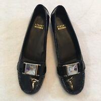 Stuart Weitzman 7M Black Embellished Slip On Shoe