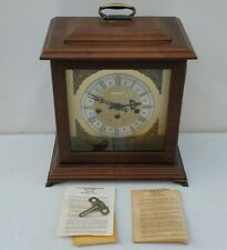 NICE Vtg Bulova Mantle Clock Westminster Chime Key Wound/Wind Up 341-020 Germany