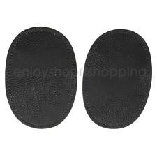 1 Pair Leather Sew on Elbow Knee Patches DIY Repair Mending Applique Black