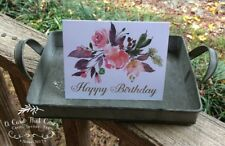 "Set Of 4 • Handmade Birthday Cards • Size A2 • 4-1/4"" x 5-1/2"" Folded • Blank"