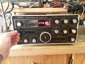 Henry Radio, (Uniden) Tempo 2020 HF Transceiver w/Mic & Photo Copy of Manual