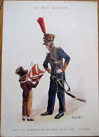 Roger Roux/Artist-Signed Au Bon Marche, Paris 1900 Advertising Print: Marine
