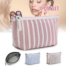 Makeup Pouch Travel Striped Printed Cosmetic Bag Toiletry Small Organizer Purse
