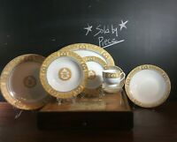 Savoy Home China Laurels Yellow, Gold & Grey SVH2 Sold by Piece