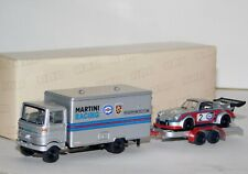 MERCEDES LP608 & PORSCHE RSR MARTINI RACING IN TRAILER BUB 7853 1/87