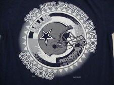 Vintage Dallas Cowboys NFC East Champions Football 1994 90's Blue T Shirt M