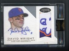 2016 Topps Dynasty David Wright New York Mets Logo Patch AUTO 1/5