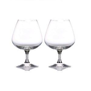 New Pair of Swarovski Crystal Filled Stem Gin Glasses